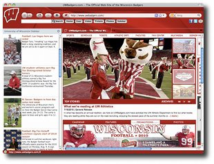 Wisconsin Badgers IE Browser Theme Screenshot