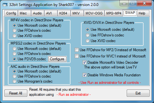 Win7codecs Screenshot 2
