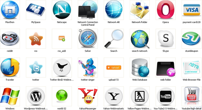 Web Icons Screenshot