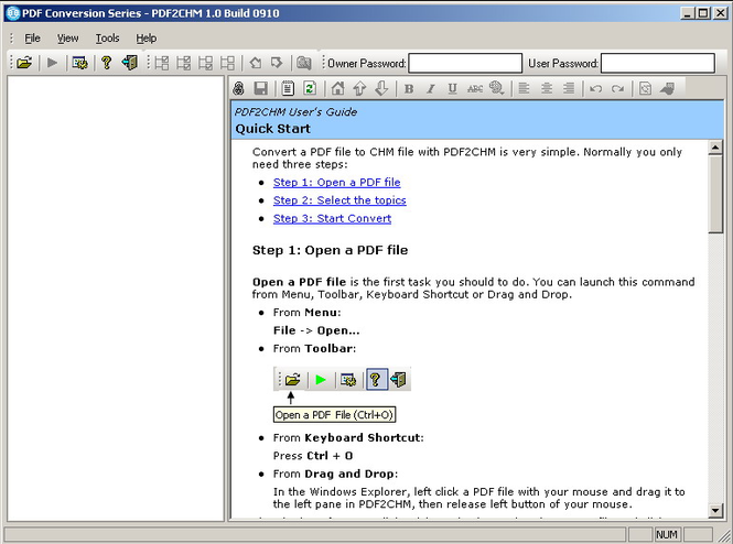 PDF Conversion Series - PDF2CHM Screenshot