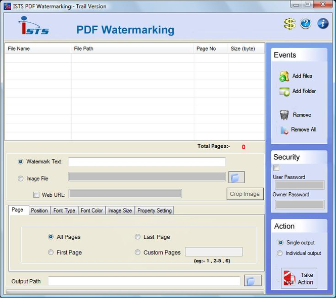 Adding Watermark to PDF Screenshot