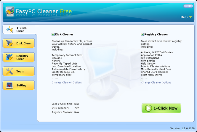EasyPC Cleaner Free Screenshot 1