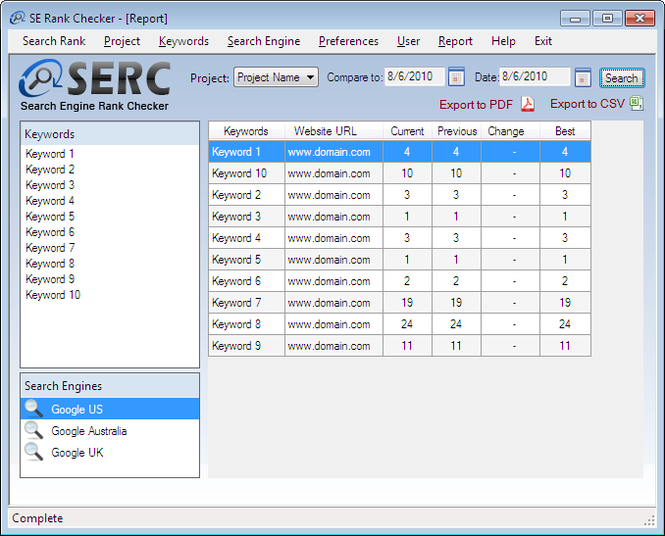 Free Keyword Rank Checker Tool(SERC) Screenshot 2