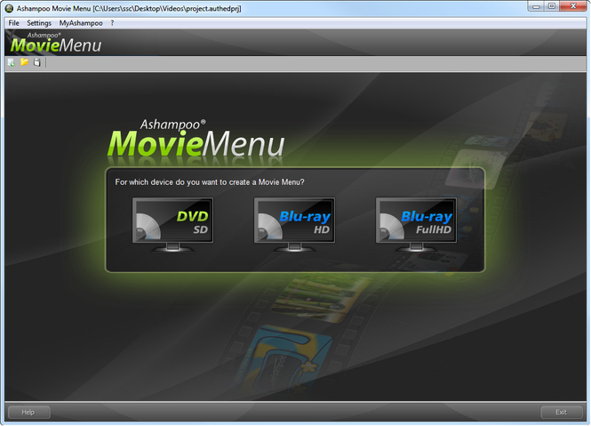 Ashampoo Movie Menu Screenshot 1