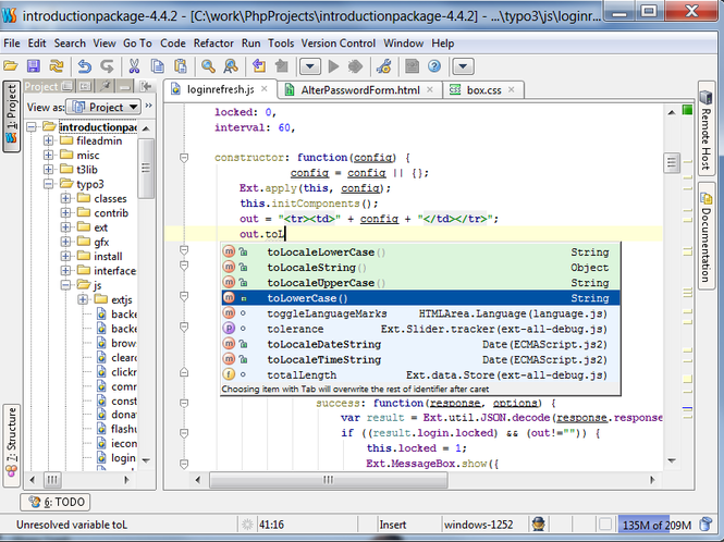 JetBrains WebStorm Screenshot
