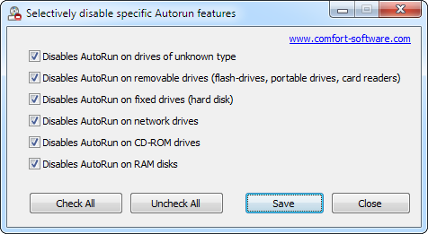Disable Autorun Screenshot 1