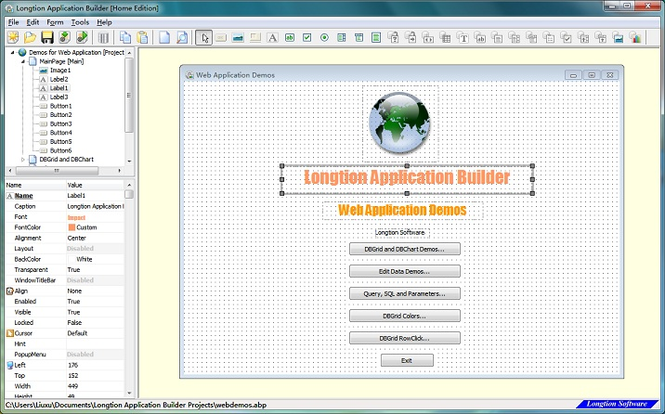 Web Application Software Screenshot