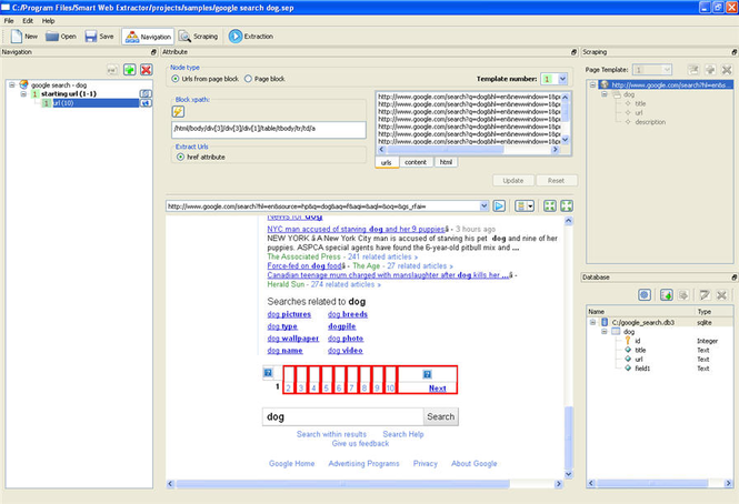 Smart web extractor professional Screenshot