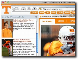 Tennessee Vols Firefox Browser Theme Screenshot