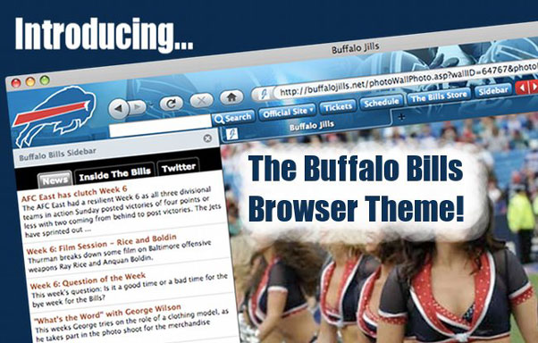 NFL Buffalo Bills Firefox Browser Theme Screenshot 1