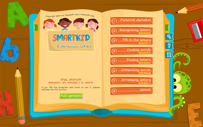 SmartKid - Entertaining Letters Screenshot 1