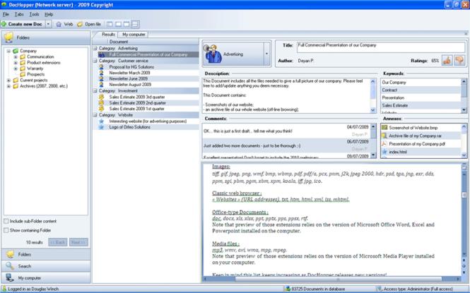 DocHopper Screenshot