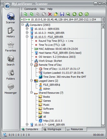 MyLanViewer Network/IP Scanner Screenshot