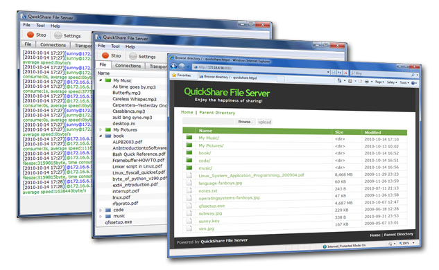 QuickShare File Server Screenshot