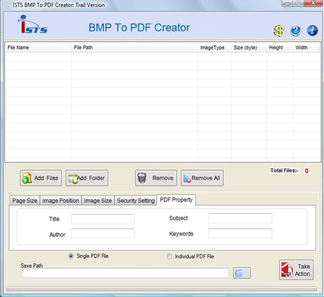 From BMP to PDF Screenshot