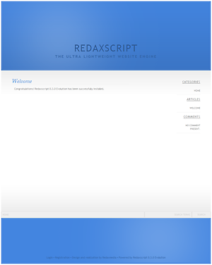 Redaxscript Screenshot