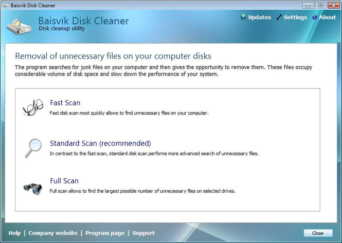 Baisvik Disk Cleaner Screenshot