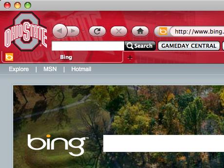 Ohio State Buckeyes IE Browser Theme Screenshot 1