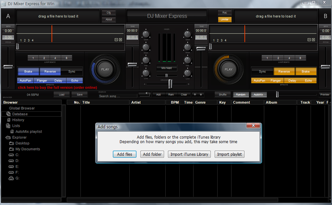 DJ Mixer Express for Windows Screenshot