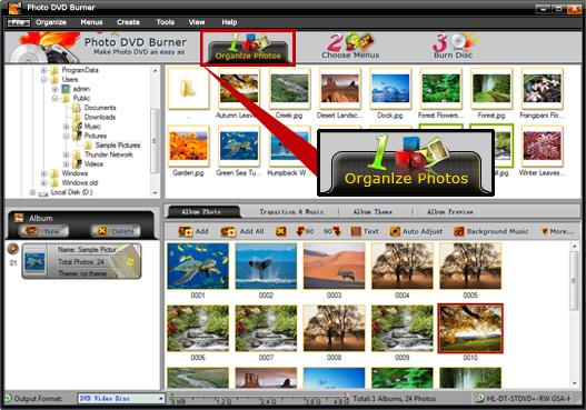 Photo DVD Burner Professional Screenshot 2