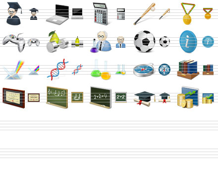 Desktop Education Icons Screenshot