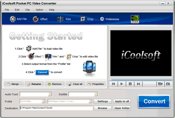 iCoolsoft Pocket PC Video Converter Screenshot 1