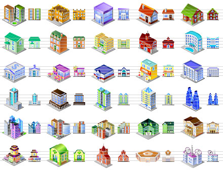 Desktop Building Icons Screenshot 1