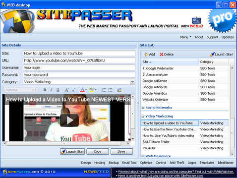 SitePasser Screenshot