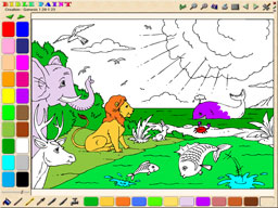 BiblePaint Bible Coloring Book Screenshot