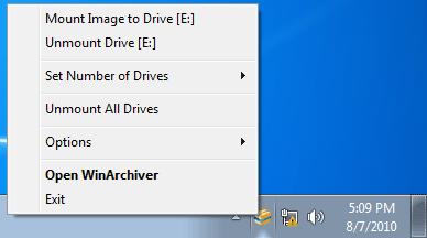 WinArchiver Virtual Drive Screenshot 1