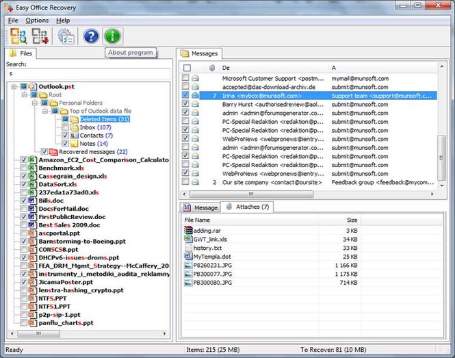 MunSoft Data Recovery Suite Screenshot