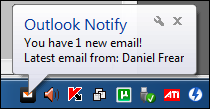Outlook Notify POP3 Screenshot