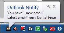 Outlook Notify POP3 Screenshot 1