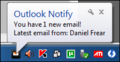 Outlook Notify POP3 2