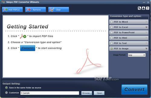 Simpo PDF Converter Ultimate Screenshot 2