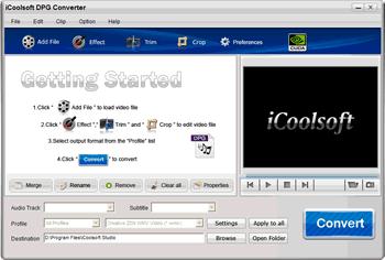 iCoolsoft DPG Converter Screenshot