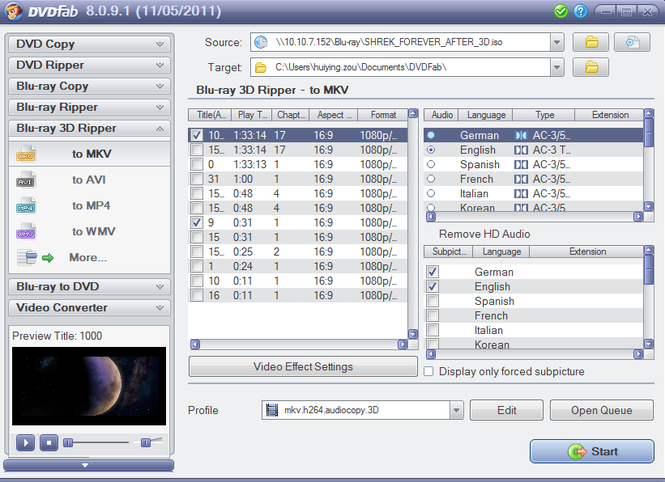 DVDFab Blu-ray 3D Ripper Screenshot 1