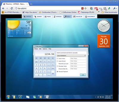 ThinVNC SDK for Remote Desktop and Application Sharing Integration Screenshot