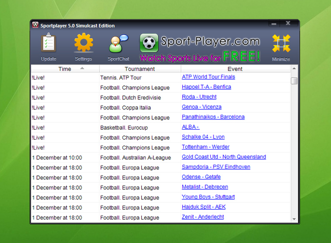 SportPlayer Screenshot 1