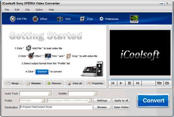 iCoolsoft Sony XPERIA Video Converter Screenshot 1
