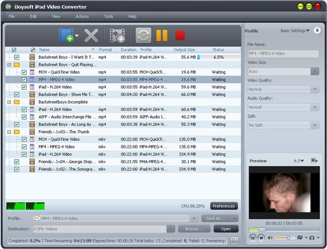 iJoysoft iPad Video Converter Screenshot