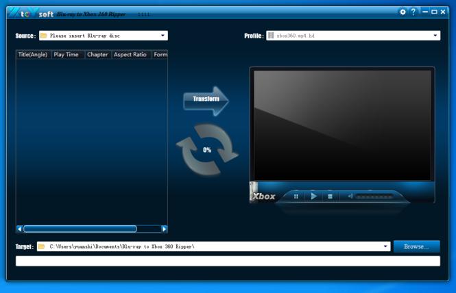 XtoYsoft Blu-ray to Xbox 360 Ripper Screenshot