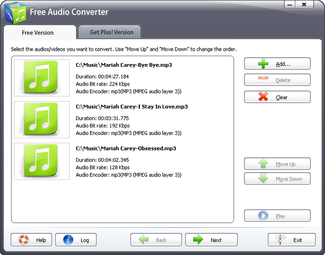 Free Audio Converter 2011 Screenshot