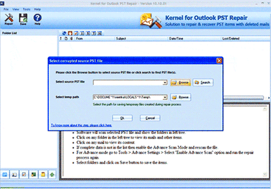Outlook Recovery Tool Screenshot