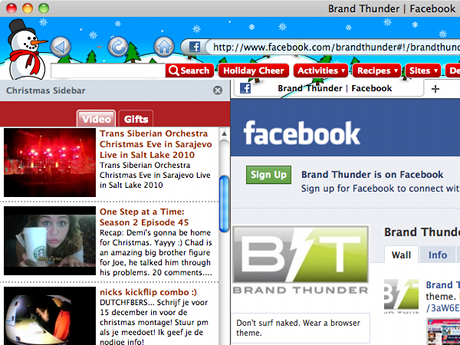 Christmas Theme for Internet Explorer Screenshot 1