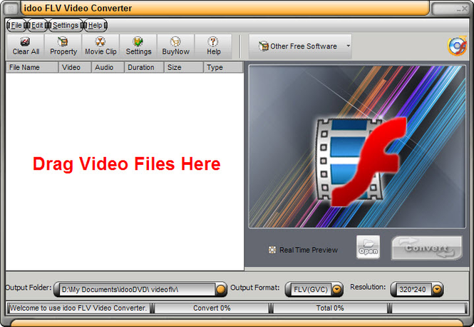idoo Video to flv Converter Screenshot 1