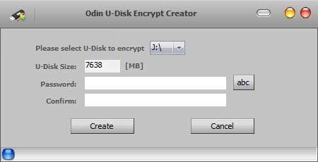 Odin U Disk Encrypt Creator Screenshot