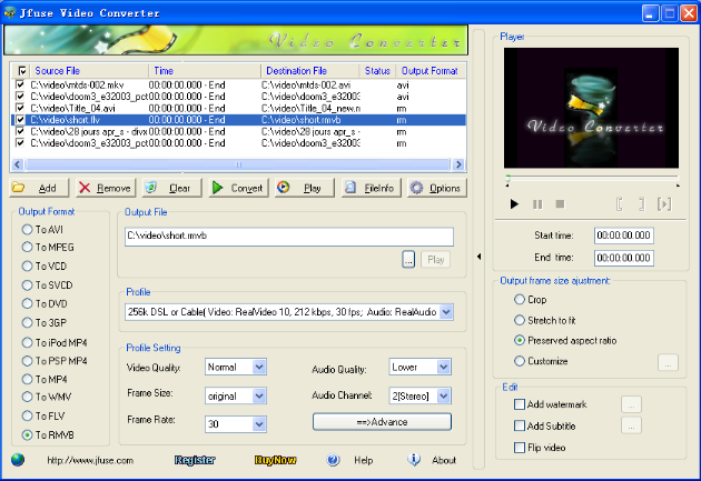 Jfuse Video Converter Screenshot 1