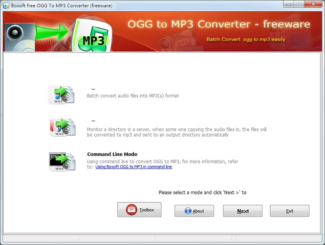 Boxoft free Ogg to MP3 Converter (freeware) Screenshot