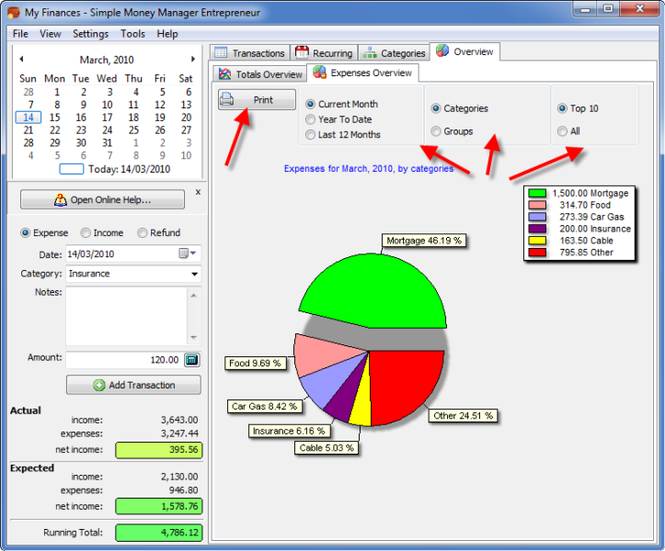 Simple Money Manager Pro Screenshot